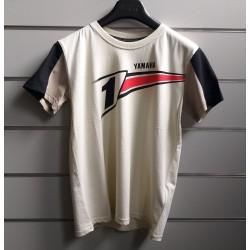 T-shirt Yamaha Revs bianca bambino